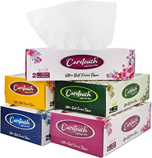 Care Touch 2 Ply Ultra Soft Tissue, Facial Tissue - 100 Pulls (Pack of 5 Box ,200 sheets per Box)