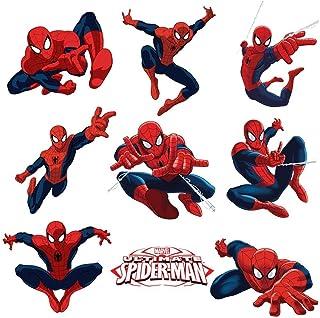 Dekosh Lot d'autocollants Spiderman pour chambre d'enfant | Décollez et collez l'autocollant mural pour ultime décoration ...