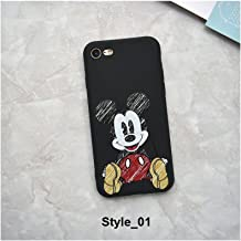 Cute Cartoon Mickey Minnie Mouse Strike Glass Cover Soft TPU Silicone Case for iPhone Case Cover for I Phone 7 Plus or 8 Plus (I Phone 7 Plus or 8 Plus / Style_01)