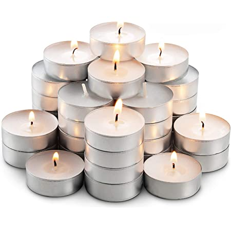 Pool Travel Shabbat Unscented Tea Lights Candles for Candle Holder Weddings /& Emergencies 8H 100Pack Smokeless /& Long Lasting White Small Votive Soy Candles for Home