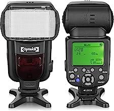 Opteka IF-980 i-TTL Dedicated Auto-Focus Speedlight Flash with LCD Display for Nikon Z50, Z7, Z6, D6, D5, D4, D850, D810, ...