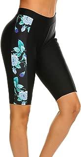 Women's Swim Capris UV Board Shorts Rash Guard Swimsuit Pants Swimwear S-XXL