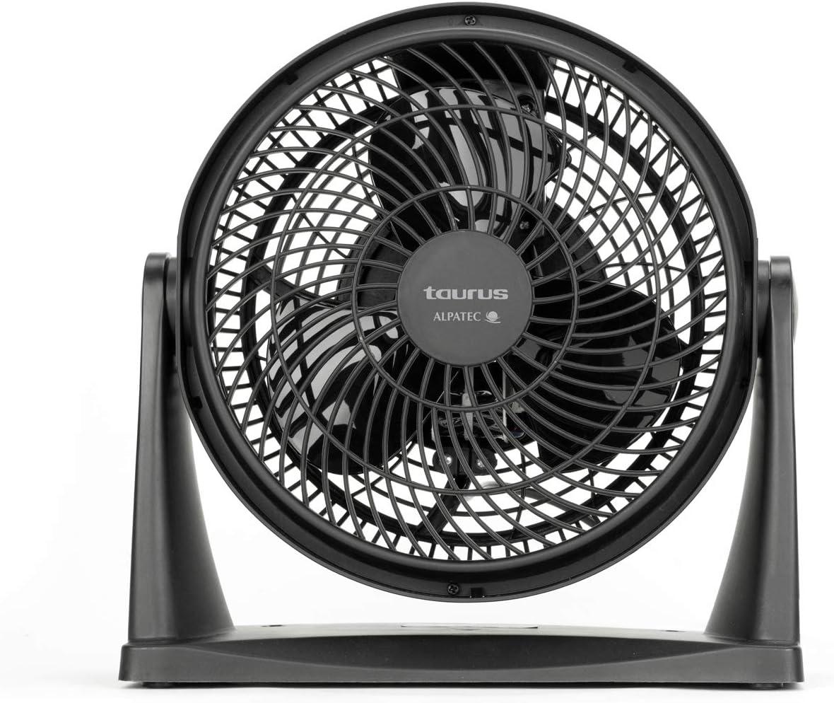 Taurus Ice Brise Mini - Mini circulador de aire, mini ventilador de sobremesa, 25 cm de diámetro, 2 velocidades, 3 aspas, inclinable, apto para colgar en pared, silencioso, potente, 28x13x28 cm