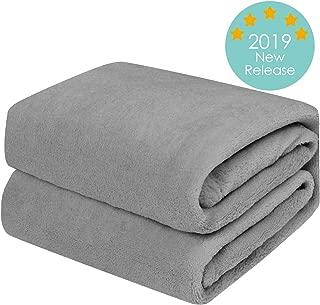 TILLYOU Micro-Fleece Plush Soft Baby Blanket Hypoallergenic Fluffy Warm Toddler Bed/Crib Blanket, Oversized Lightweight Flannel Daycare Nap Blanket/Kids Sleeping/Tummy Time Blanket, 39x47, Gray