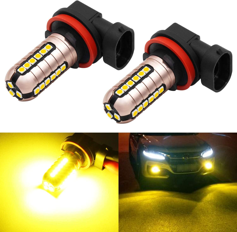 Choice Phinlion 3000 Lumens Golden Yellow H11 Fog Light Bulbs Super LED Ranking TOP6