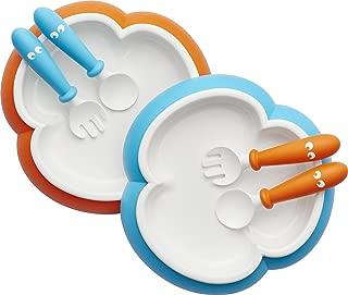 BABYBJORN 婴儿 餐盘 汤匙和叉子(橘色/蓝绿色 2套装) (产地:瑞典)
