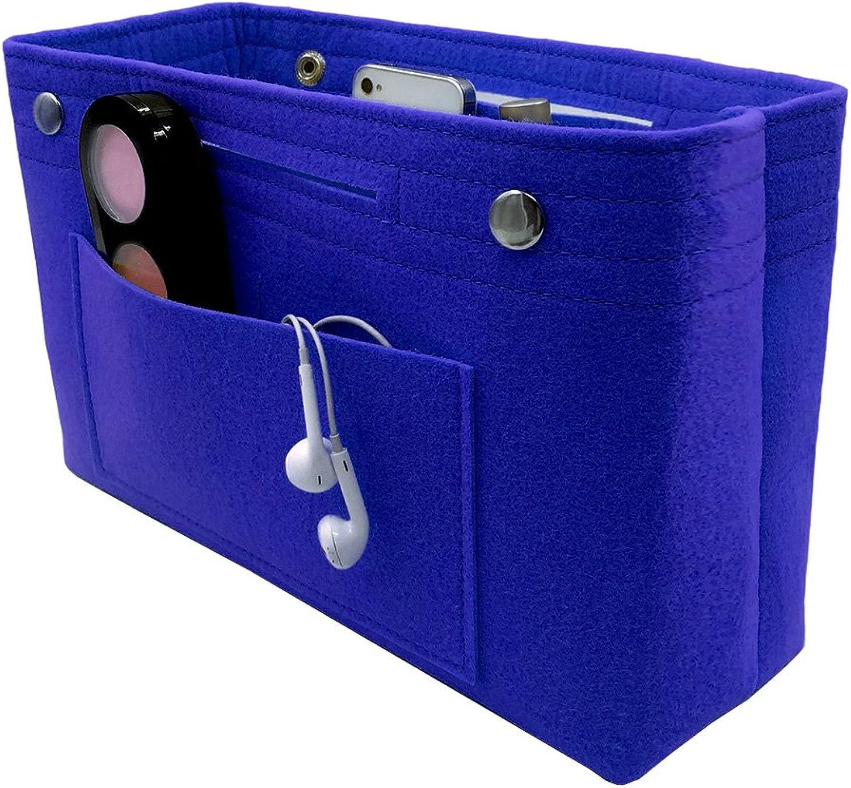 VANCORE Felt Insert Handbag Organizer Travel Purse Bag Organiser bluee Small