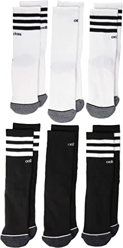 3-Stripes Crew Socks 6-Pack (Toddler/Little Kid/Big Kid/Adult)