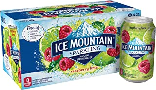 Sparkling Ice Mountain Brand Natural Spring Water, Raspberry Lime, 12-Ounce Can (Pack of 8)