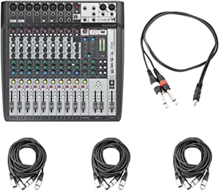 Soundcraft Signature 12 MTK Compact Analogue Mixer with Cables