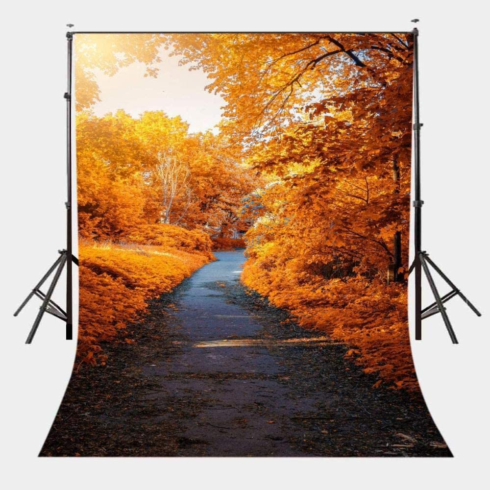 Zhy 7X5FT Autumn Backdrop Yellow Leaves Tree Photography Background Studio Photo Booth Props GEEV362