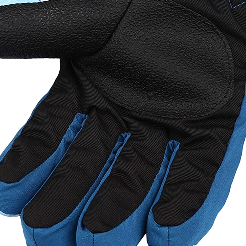 Kinder Handschuhe Wasserfest Skihandschuhe Winddichte Schnee Handschuhe Ski Warme Winterhandschuhe f/ür 5-11 Jahre Jungen M/ädchen Radfahren Skifahren Wandern F/äustlinge rutschfeste Handschuhe