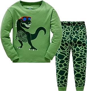 Little Hand Toddler Boys Pajamas Dinosaur 100% Cotton Truck Sleepwear Pjs Sets Long Sleeve Excavator Jammies