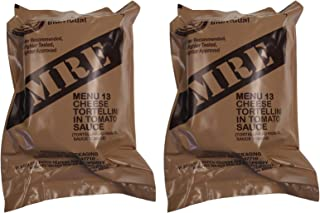 TWO (2) NEW MRE's 2020 - 2021 1st Insp. date - US Military Meals Ready-to-Eat w/FREE DESSERT! (Two 13's - Cheese Tortellini in Tomato Sauce)