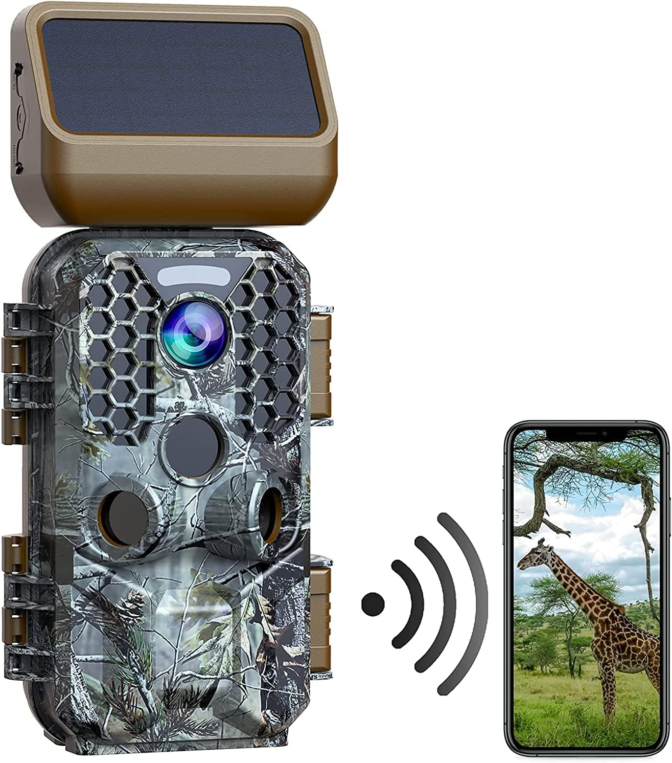 Popular brand in the world WiFi Easy-to-use Trail Camera Solar Powered Hunti 30MP Native 4K Game