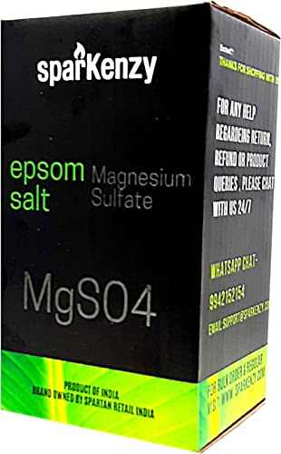 Sparkenzy Epsom Salt | Magnesium Sulphate for Plants | Bath | Pain Relief -1 Kg