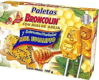 Broncolin Paleta Miel Eucalipto Caja, 10 Piezas