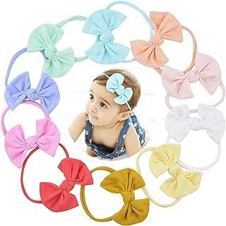 Baby Nylon Headbands Hairbands Hair Bow Elastics for Baby Girls Newborn Infant