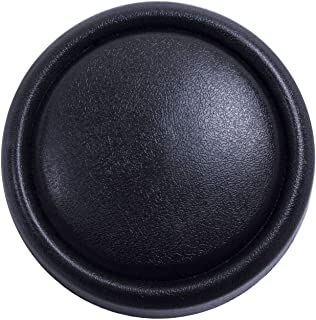 Heitamy Horn Button Universal Modified Car Steering Wheel Horn Button Black Aluminum Horn Button for Car Replacement Steering Wheels