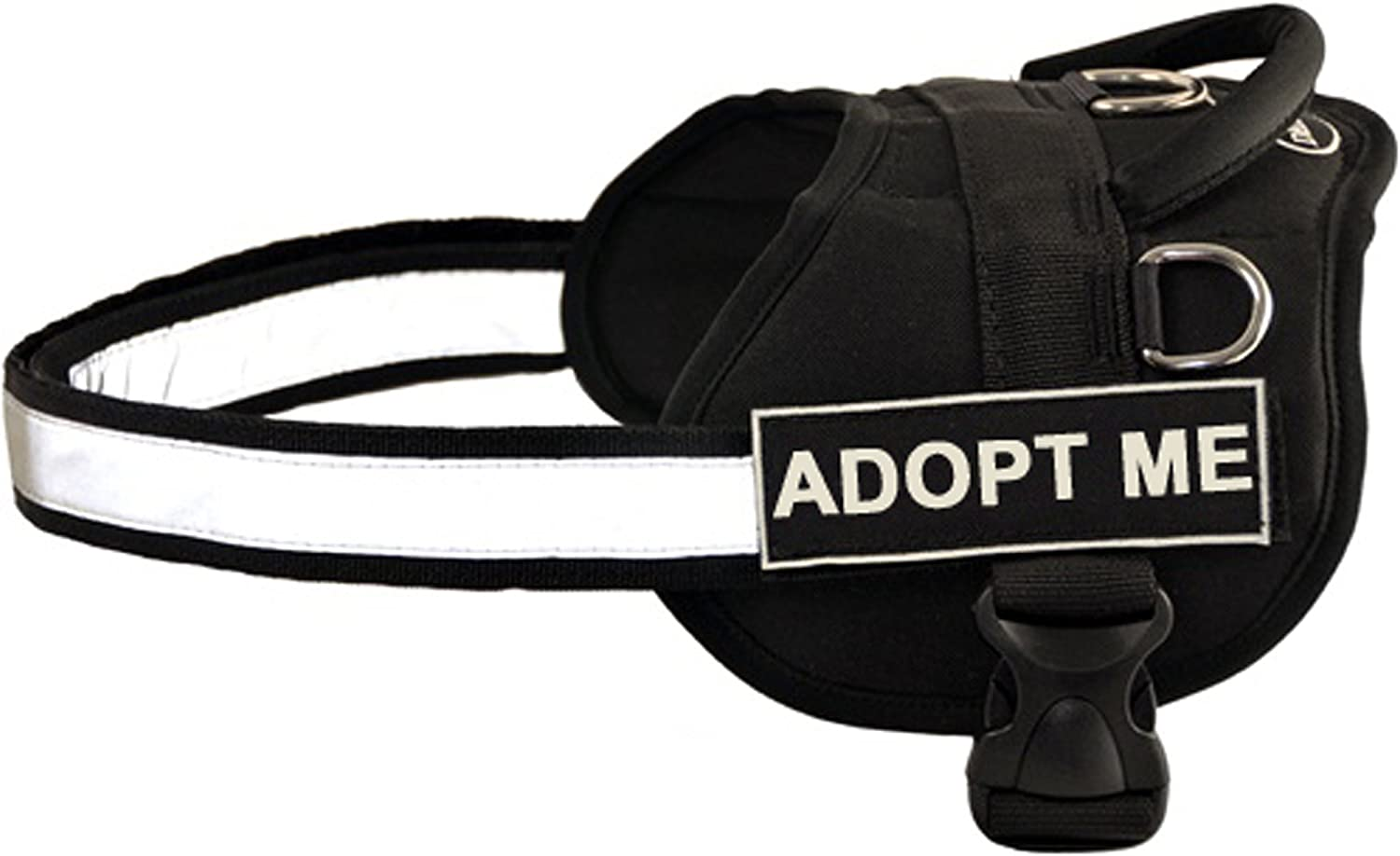 Dean & Tyler Works Harness, Adopt Me, XXSmallFits Girth, 46cm to 53cm, Black White