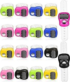 خاتم تسبيح إلكتروني بشاشة رقمية ال سي دي للأصبع للذكر الإسلامي، خاتم عداد متعدد الألوان، يمكن إعادة ضبط العداد الرقمي يدويًا