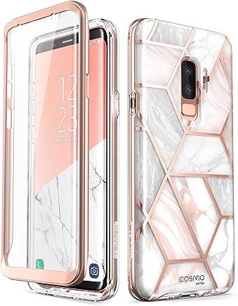 Samsung Galaxy S9 Plus Case, [Built-in Screen Protector] i-Blason [Cosmo] Full-Body Glitter Clear Bumper Case for Galaxy S9 Plus (2018 Release) (Purple) (Marble)