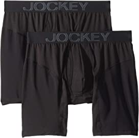 b38805537fc0 Jockey Essential Fit Supersoft Modal Boxer Brief 2-Pack at Zappos.com