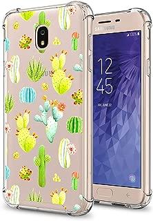 GORGCASE J7 2018 case, J7 V 2nd Gen,Galaxy J7 Refine,Galaxy J7 Aero,J7 Star,J7 Top,J7 Crown,J7 Aura,J7 Eon, Cute Slim PC TPU Bumper Protective Cover for Girls Women for Samsung Galaxy J7 V Cactus