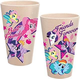 Vandor 42005 My Little Pony 24 Ounce Bamboo Tumblers, 2 Piece Set, Multicolored