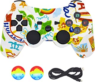PS3 Controller Wireless Bluetooth Dualshock3, BRHE PS3 Remote DS3 Vibration Gaming Joystick Super Power Best Gift for Kids Sixaxis Control Gamepad Game Accessories for PlayStation3 (Graffiti)