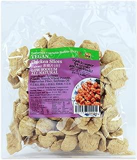 Textured Vegetable Protein (TVP), Imitation Chicken Slices, Low Sodium, 100% Vegan/Vegetarian, All Natural, 6 oz bag (Chicken Slices)