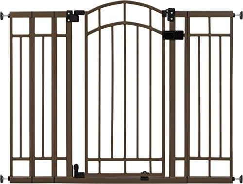 """Summer Multi-Use Decorative Extra Tall Walk-Thru Baby Gate, Metal, Bronze Finish - 36"""" Tall, Fits Openings up to 28.5..."""