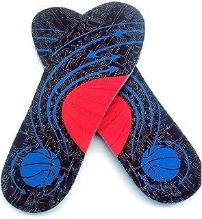 00123 インソール衝撃吸収スポーツインソール/吸汗滑り止め/男女ミリタリートレーニングランニングバスケットボールマラソン 00999 (Color : Blue, Size : 44-45)