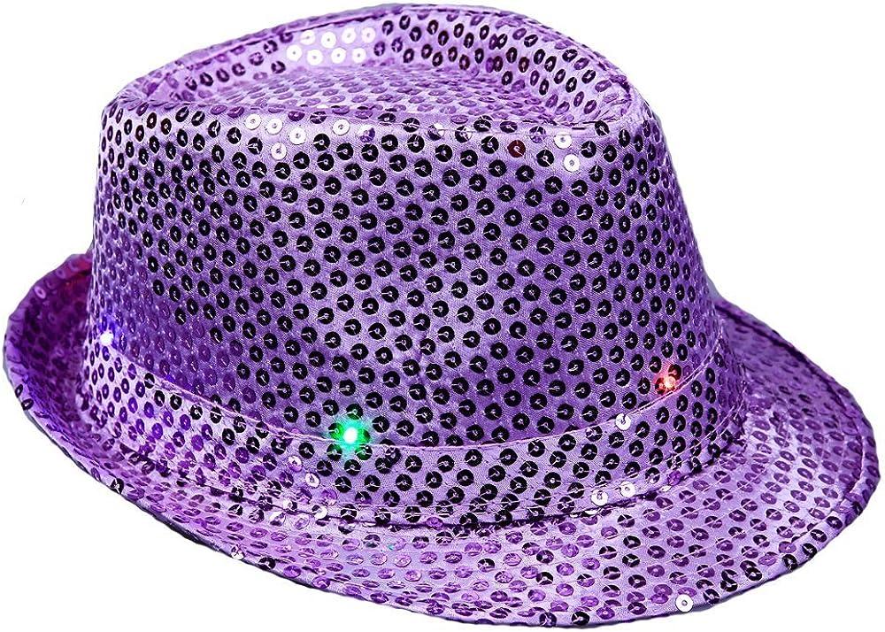 The Electric Mammoth LED Light Up Flashing Fedora Hat