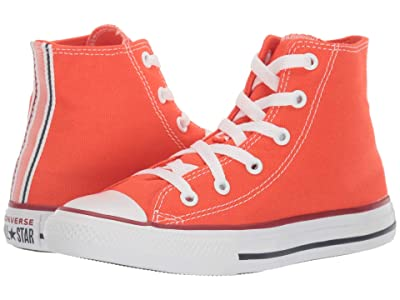 Converse Kids Chuck Taylor(r) All Star(r) Twisted Varsity Hi (Little Kid/Big Kid) (Vermillion Red/Garnet/White) Kid