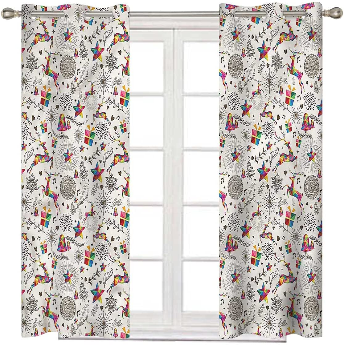 Christmas Ultra-Cheap Deals 100% Blackout Curtains 108 Max 71% OFF Hipster Inch Vibrant D Long