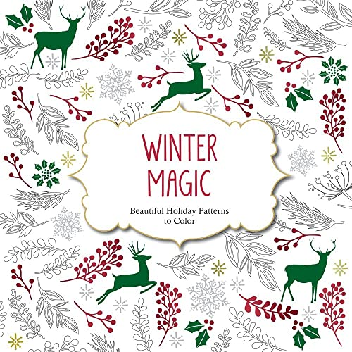 Winter Coloring Book Amazon Com