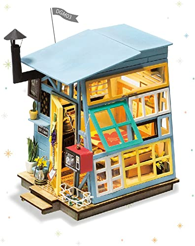 popular Rolife Miniature Dollhouse-DIY Wooden House Kit-3D House Puzzle Model-Creative Room online Decorations with new arrival Furniture and LED-Best Birthday and Valentine's Day Gift outlet sale