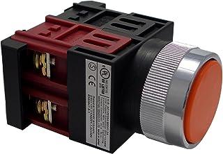 マルヤス電業φ22押ボタンSW平形(青色)1a2b接点 A22PF12H
