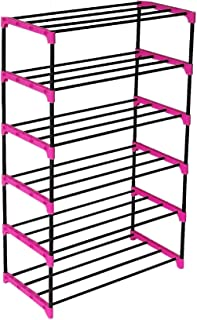 Cmerchants Smart Buy Home Utility 6 Layer Shoe Rack Cabinet Stand PINK Connector