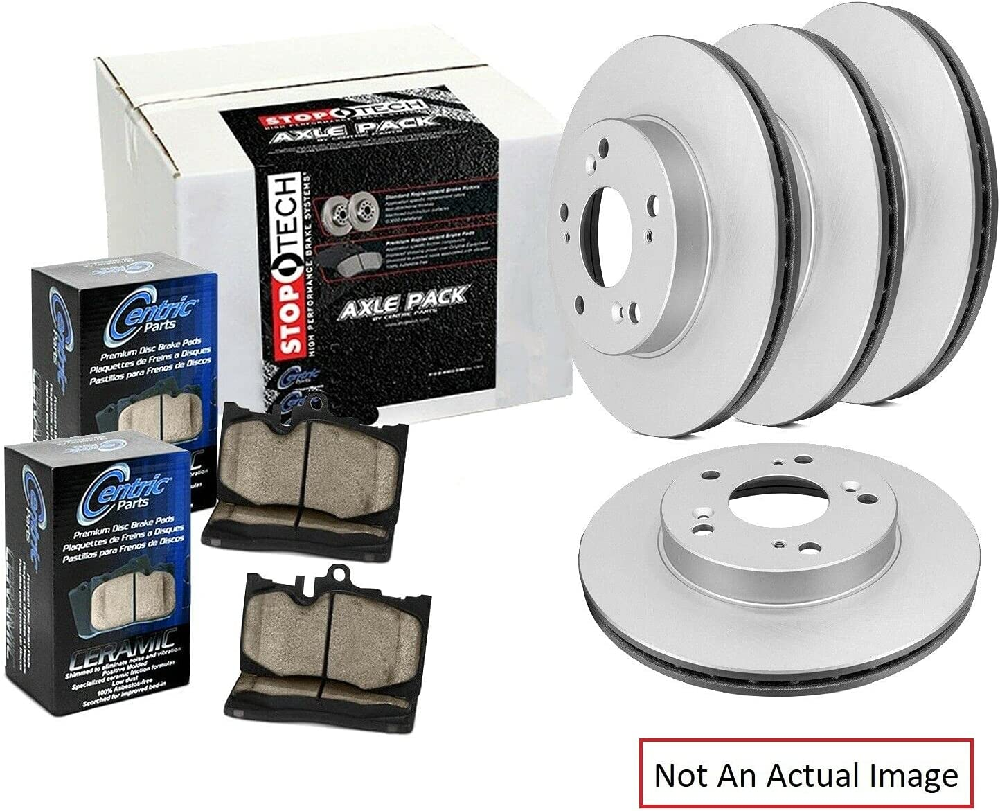 Limited price Be super welcome Ceramic Front and Rear Disc Kit Rotor Brake Pad