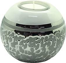 / Dreamlight Porte-Bougie Chauffe-Plat Moderne Porte-Lanterne en Verre 10x11 cm avec lumi/ère LED Fabriqu/é /à la Main avec de Vraies Fleurs orn/ées