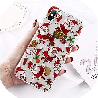 ソフトシリコンクリスマス電話ケースiPhone X XS XR Xs最大透明サンタ鹿ケースカバーiPhone 6 6 s 7 8プラス,For iPhone XR,XW0176