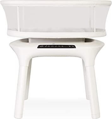 4moms mamaRoo Sleep Bassinet, Bluetooth Baby Bassinets and Furniture with 5 Unique Motions, 4 Built-in White Noise Options, B