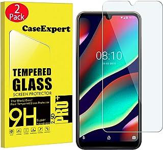 CaseExpert 2-pack – Wiko View3 Pro härdat glas, härdat glas kristall klart skärmskydd skydd & poleringsduk för Wiko View3 Pro