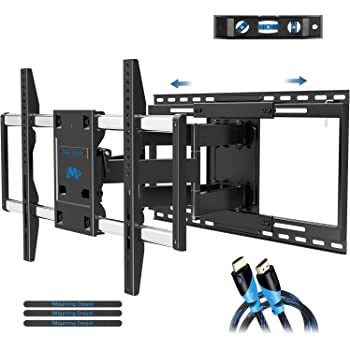 """Mounting Dream TV Mount with Sliding Design for 42-70 Inch TVs, Easy for TV Centering on Wall, Full Motion TV Wall Mount Fits Most Smart OLED TVs - Easy to Install on 16""""~ 24"""" Studs, Extend to 19"""""""