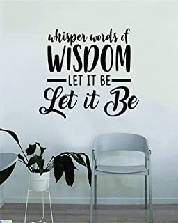 CECILIAPATER Whisper Words of Wisdom Love Quote Decal Sticker Wall Vinyl Art Music Lyrics Home Decor Inspirational John Lennon Paul McCartney