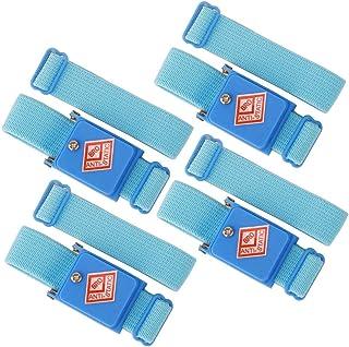 GTIWUNG 4 Pack Pulseras Antiestaticas Electrostática, Munequera Antiestatica, Anti Estática ESD Muñeca Banda, Antiestática Correa De Pulsera, Evita la Acumulación de Electricidad Estática, Azul