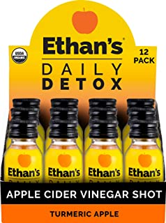 Sponsored Ad - Ethan's Daily Detox Shot, Turmeric Apple Flavor, ACV Supplement, Organic Apple Cider Vinegar Shots, Natural...