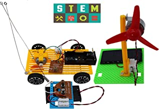 Science Kits,2 Set Educational Engineering DIY Stem Products for Kids or Teens-Solar Powered Panel Fan,Model Car,Building ...